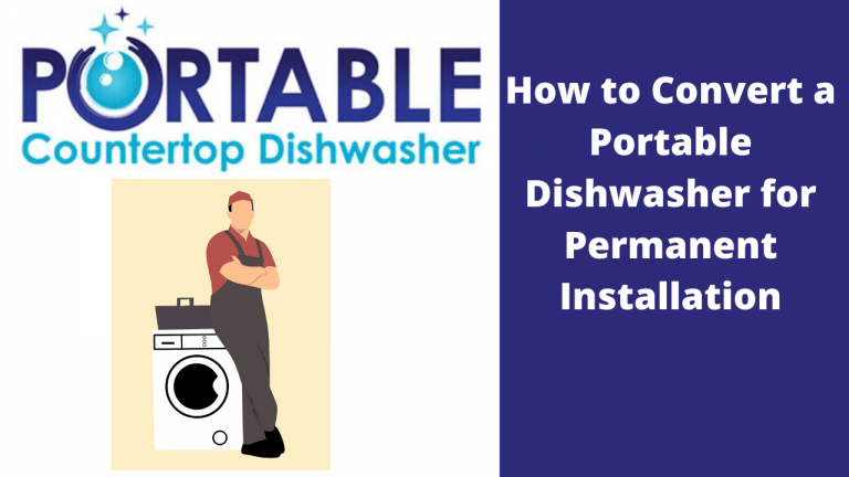 convert portable dishwasher to permanent