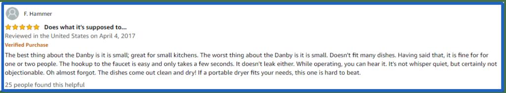 Amazon.com Customer reviews Danby DDW1801MWP Por
